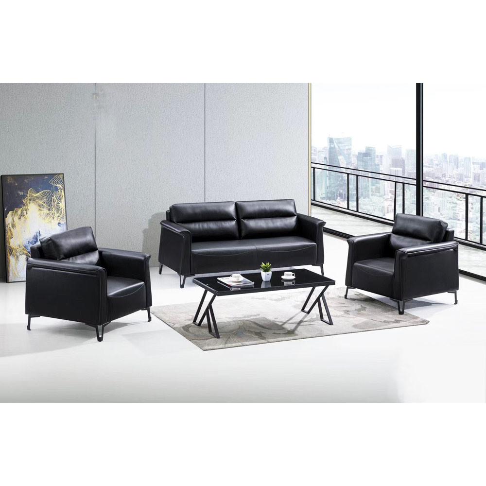 - China Sz-Sf821b Office Waiting Room Genuine Leather Sofa Set On