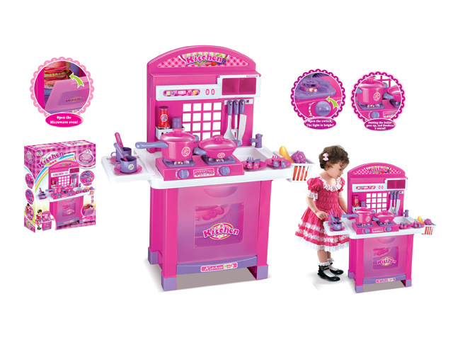 [Hot Item] Deluxe Plastic Children Pretend Play Toy Kids B/O Kitchen Toy  H0535516