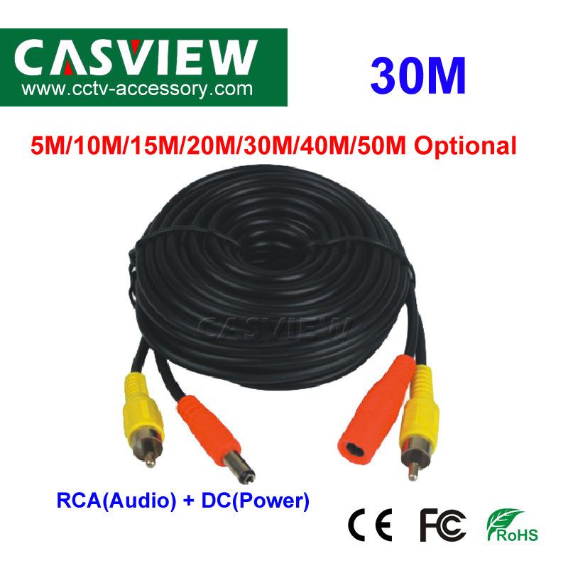 W 10M BNC DC CCTV Security  Video Camera DVR Data Power Cable