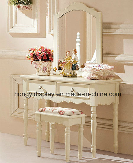 White Modern Dressing Table With Mirror /Dressing Table With Stool/Wooden  Dresser