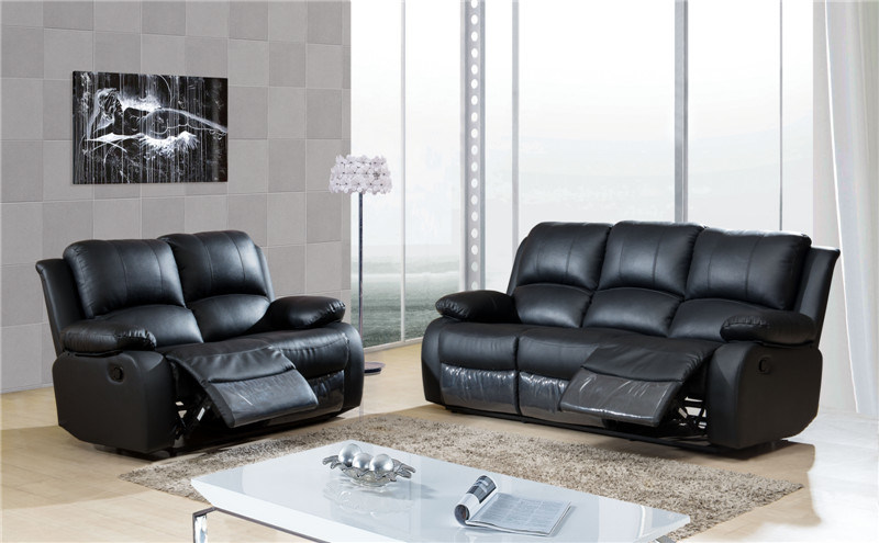 [Hot Item] Lazy Boy Microfiber Sofa, Bonded Leather Recliner Sofa (A-3705)