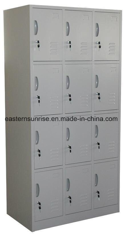 12 Door Compartments Steel Storage Locker pictures & photos