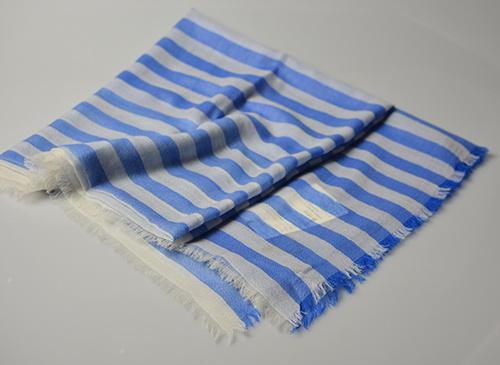 China Alashan Yarn Dye Pure Cashmere Yarn Dyed Stripe Design