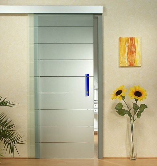 3 19mm Tempered Acid Etched Door Glass Panel