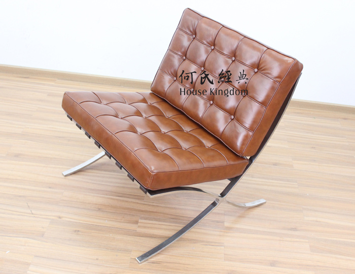 Barcelona Chair / Modern Classic Furniture / Replica Designer Sofa / MID Century Leather Armchair