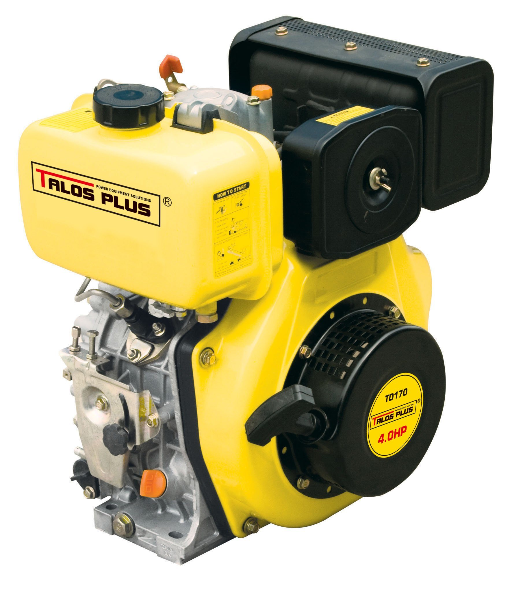 4HP 4-Stroke Air-Cooled Small Diesel Engine (TD170F)