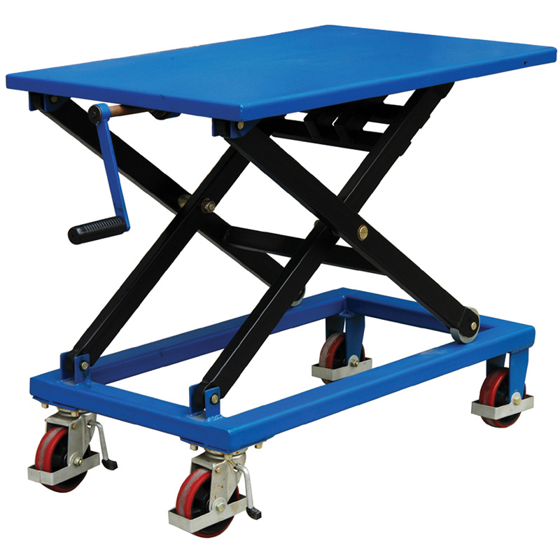 China Screw Type Lift Table Cart Without Oil Leakage Risk