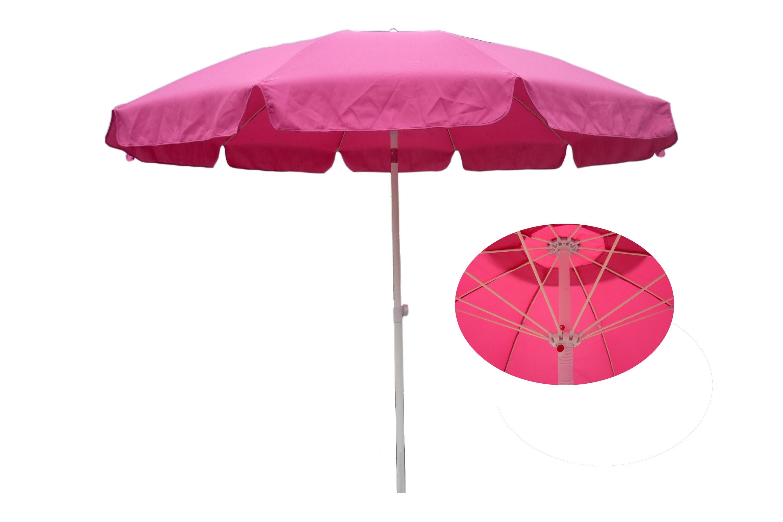 China Tilt Umbrella Hand Push 9ft Fiber Glass Garden Parasol