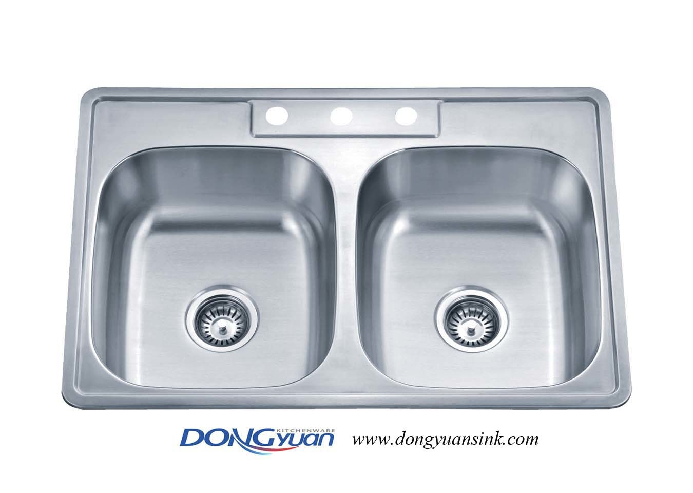 China Upc Certificated 304 Stainless Steel Double Bowls, Topmount ...