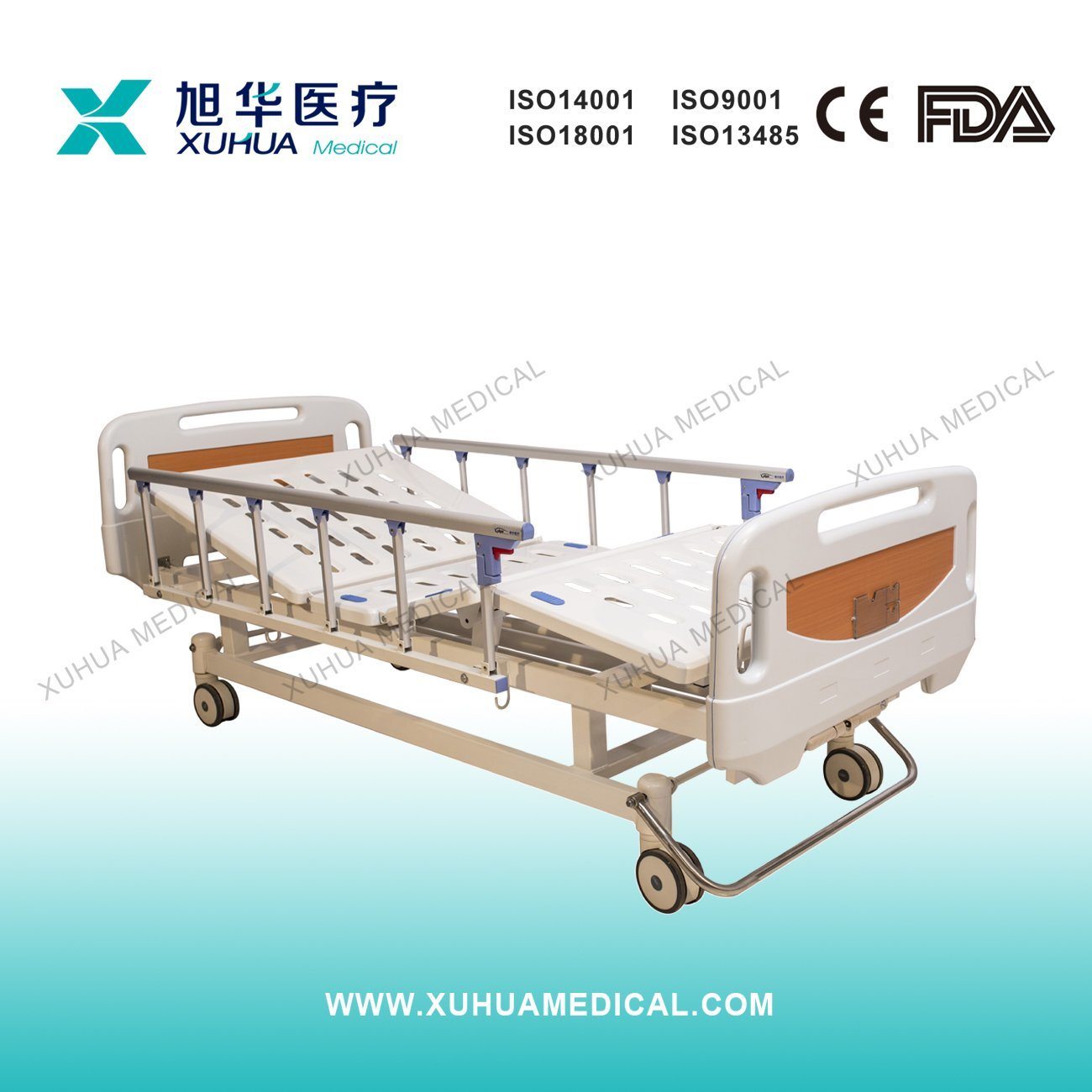 Central Braking Two Cranks Manual Hospital Bed