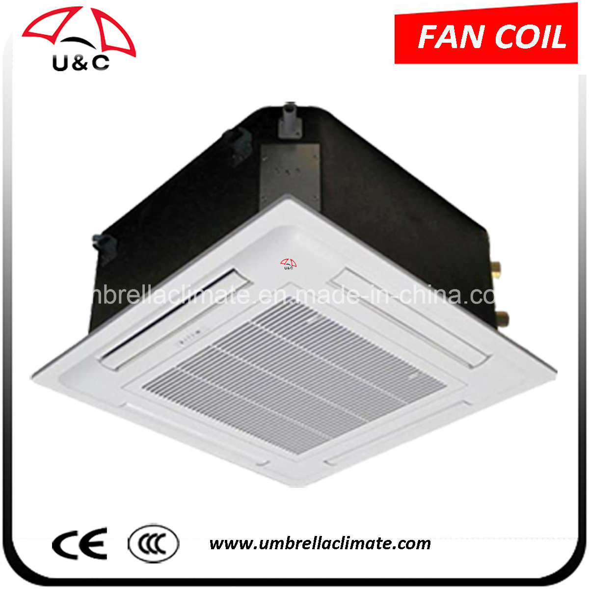 China Central Air Conditioner Use Cassette Type Ceiling Mounted Fan Coil Unit For Hotel Conditioning