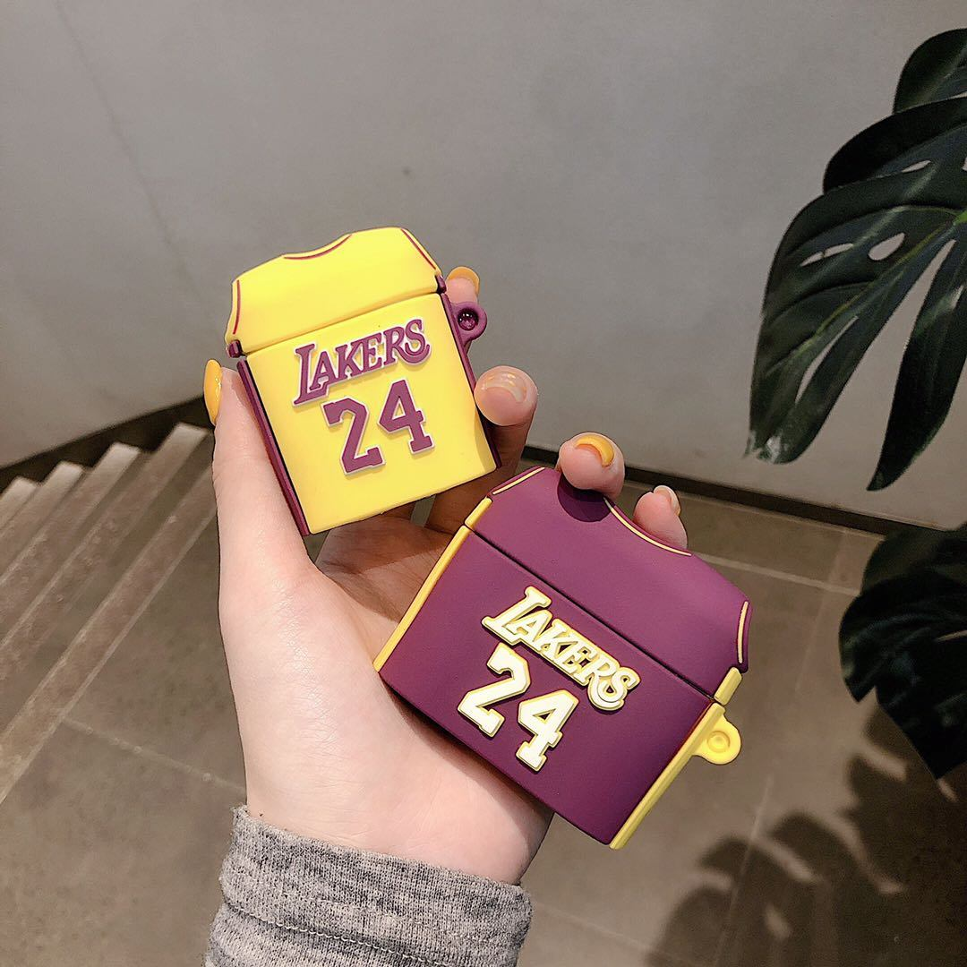 China Kobe Bryant Lakers No. 24 Jersey Airpod Case for Airpods 1/2 ...