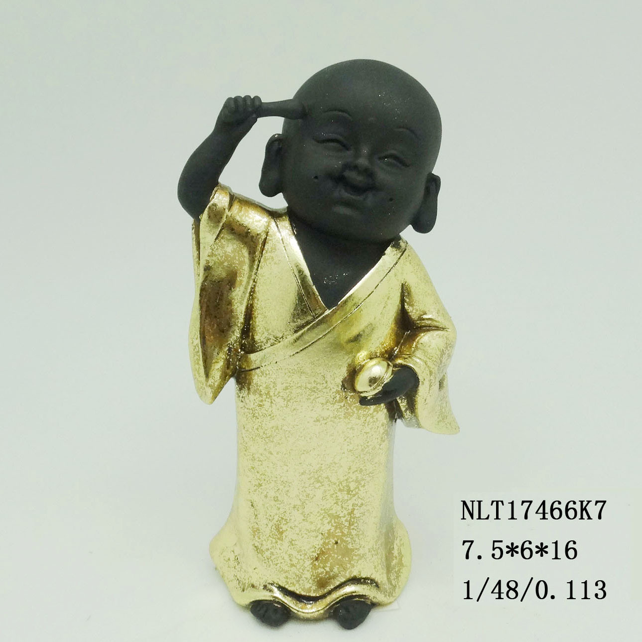 China Laying Down Buddhist Monk Statue Baby Monk Sculpture Photos ...