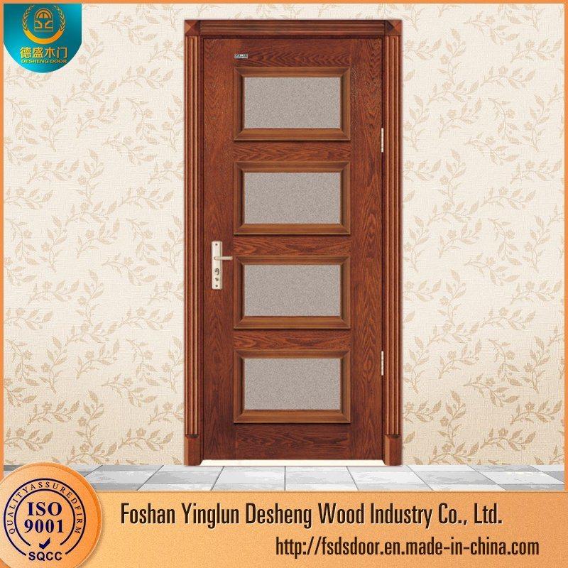 China Desheng Wooden Flash Glass Panel Doors Design Photos