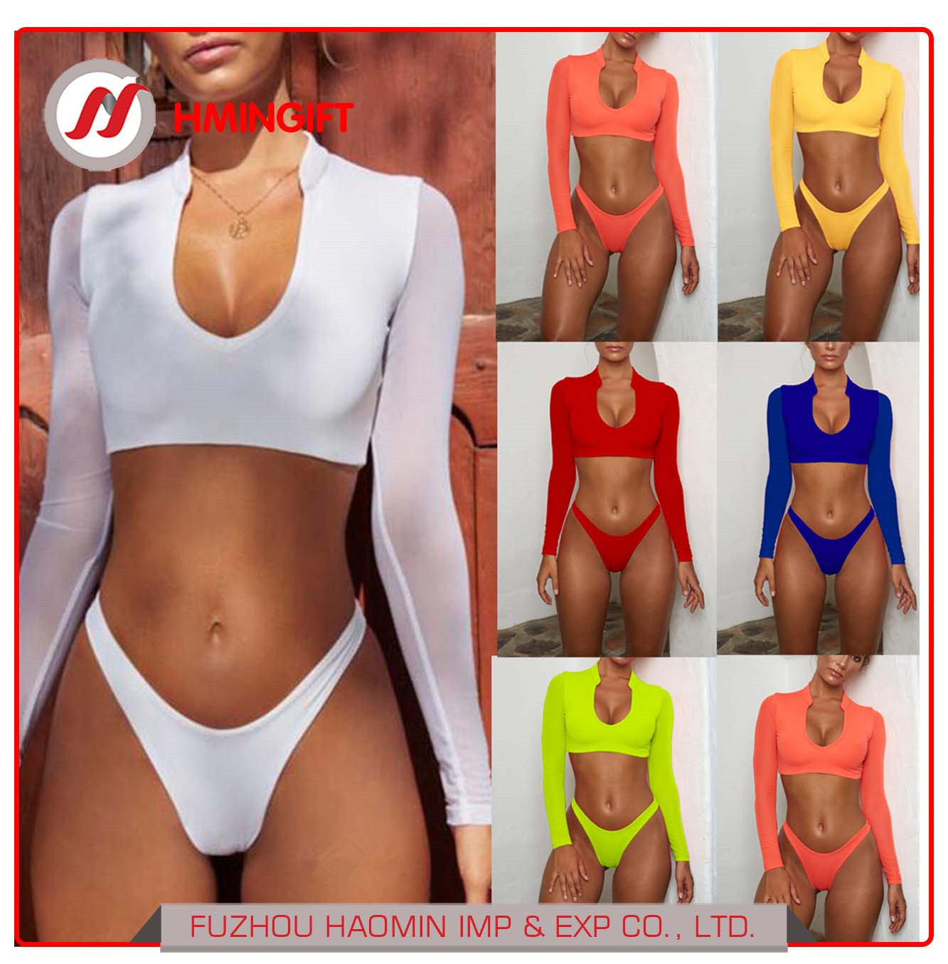 1c33ae8648 China Wholesale Long Sleeve Mesh Bikini Sexy Triangle Bikini 2 Piece Set -  China Swimsuit, Swimwear