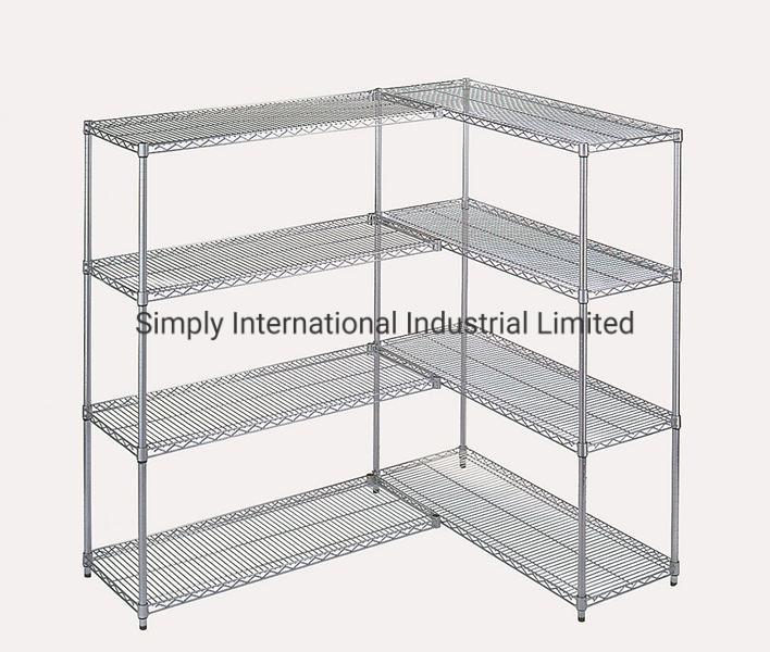 China 4 Tier Steel Storage Shelves, Adjustable Storage Shelves