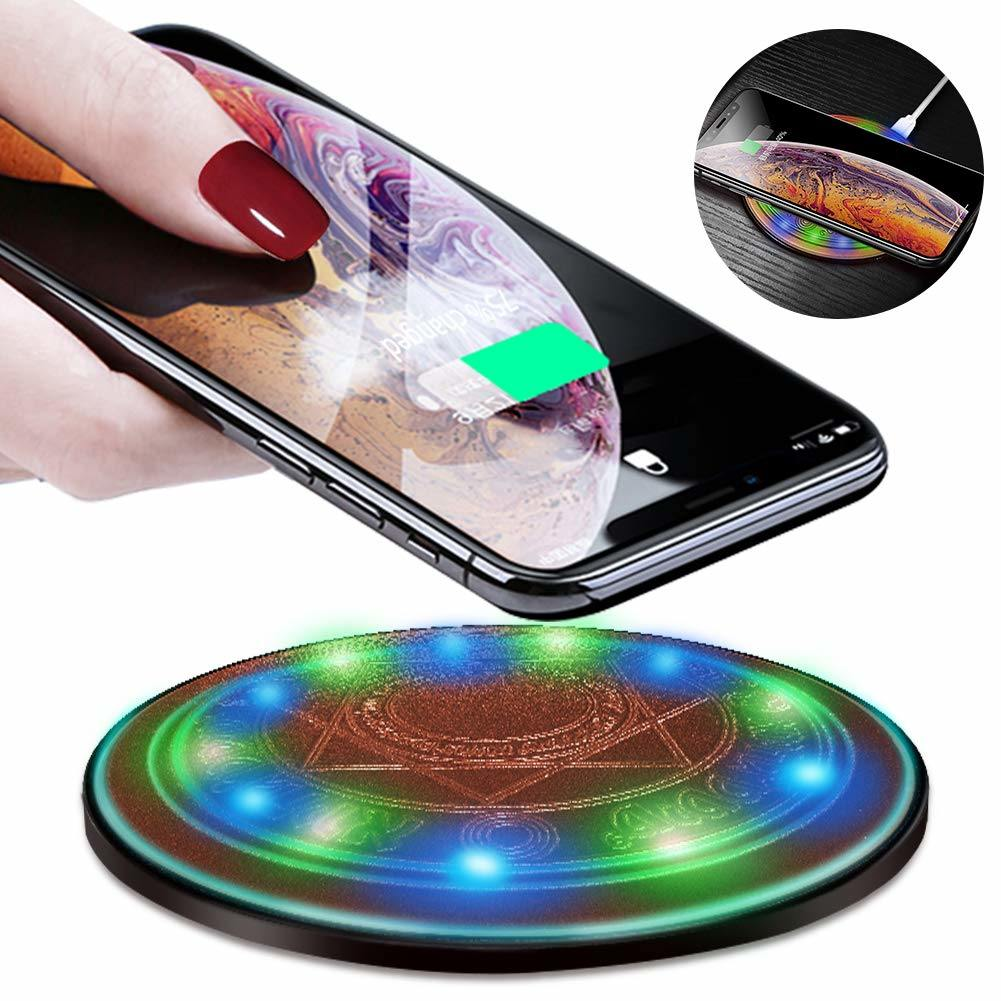 049835b115498 China Ultra Slim Mini Light up Wireless Charger for iPhone 8 Plus/iPhone  X/Xr/Xs Max/Samsung S9/S8/S7 - China Power Bank, USB Charger