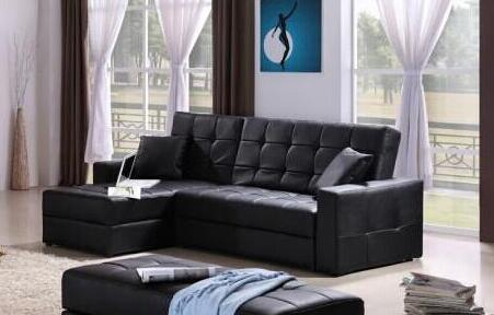 [Hot Item] Leather Sofa Bed Couch with Storage 8020# Price USD180/Set