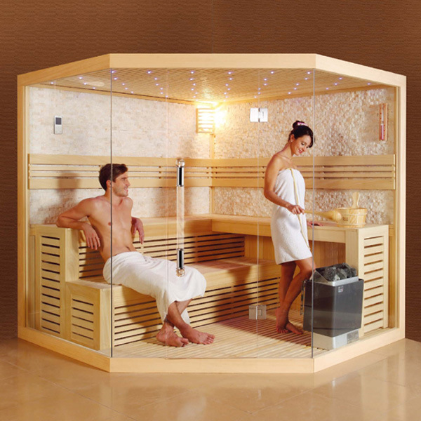 2018 New Design Luxury Culture Stone Dry Sauna Room Steam Room Sauna Cabin