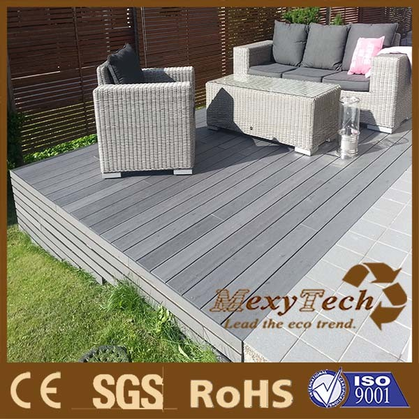 China Mexytech Homey Composite Decking, Lasted Mix Color Grain Technology    China Composite Decking, Composite Wood