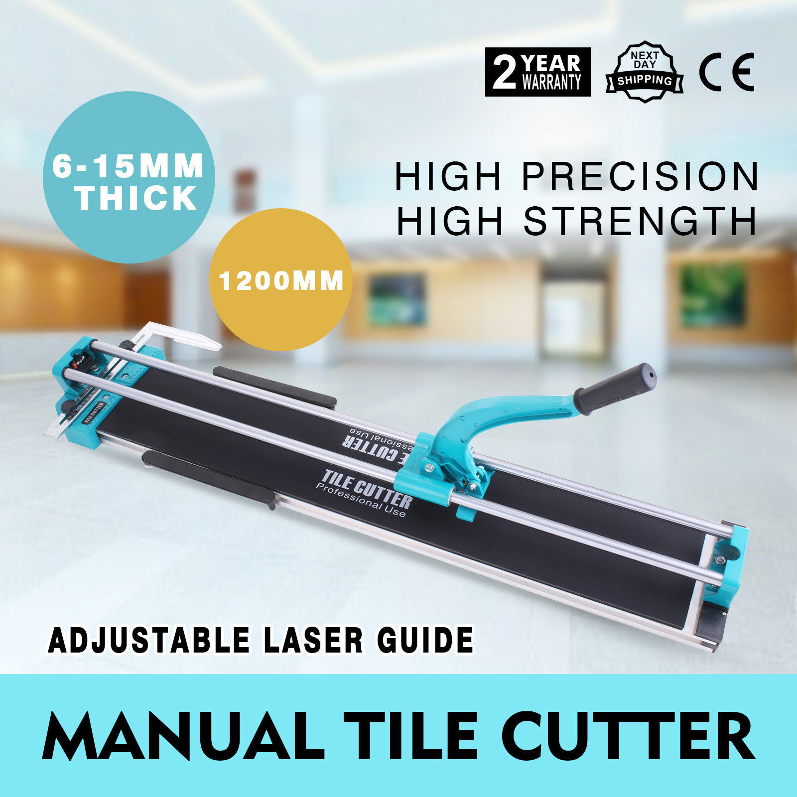 China 1200mm Manual Tile Cutter Ceramic Porcelain Cutting Machine