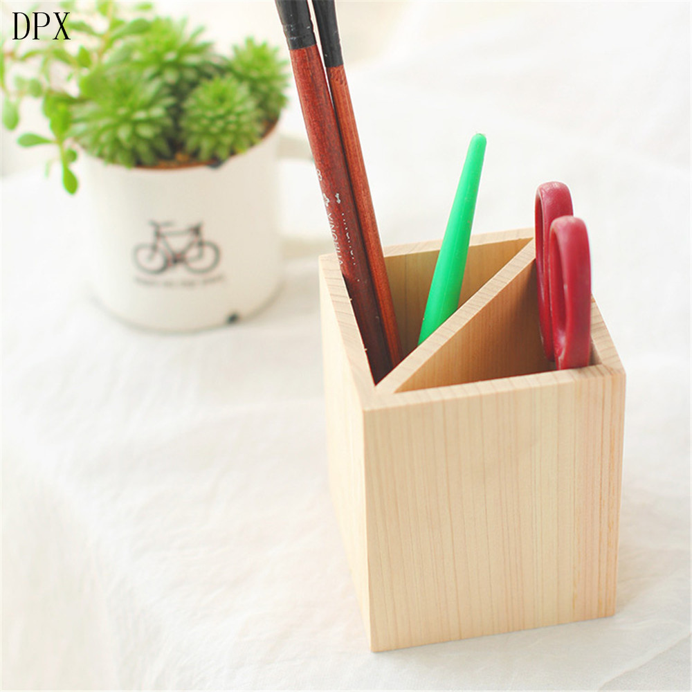 Stationery Office Stationery Office Supply Pencil Case Hot Sale Handmade Custom Woode Pen Holder with Wall pictures & photos
