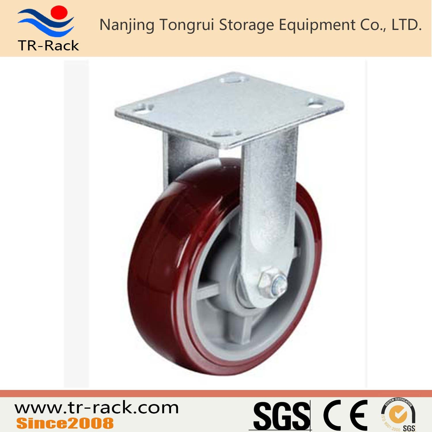 Medium Duty Rubber Wheel Casters with Customized Size