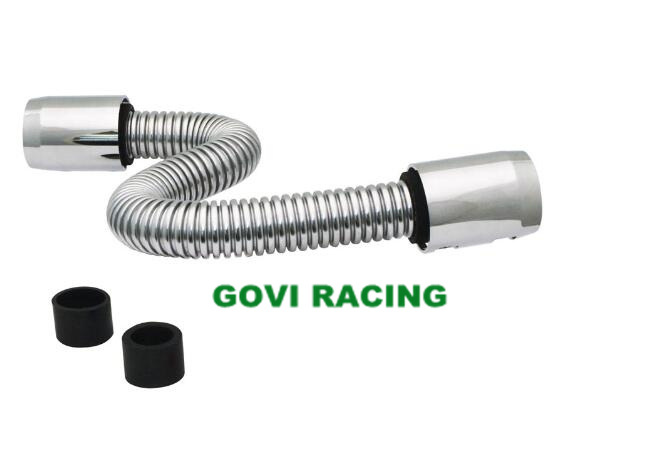China 24inch Length Chromed Flexible Radiator Hose Tubing Pipe with Stainless Steel - China Hose Tube  sc 1 st  Ningbo Govi Auto Parts Co. Ltd. & China 24inch Length Chromed Flexible Radiator Hose Tubing Pipe with ...