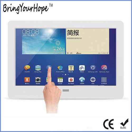 1024/×600 Resolution 10 Inches Photo Frames Digital Android System 1G Memory Smart Advertising Machine Able to Connect WiFi,Black