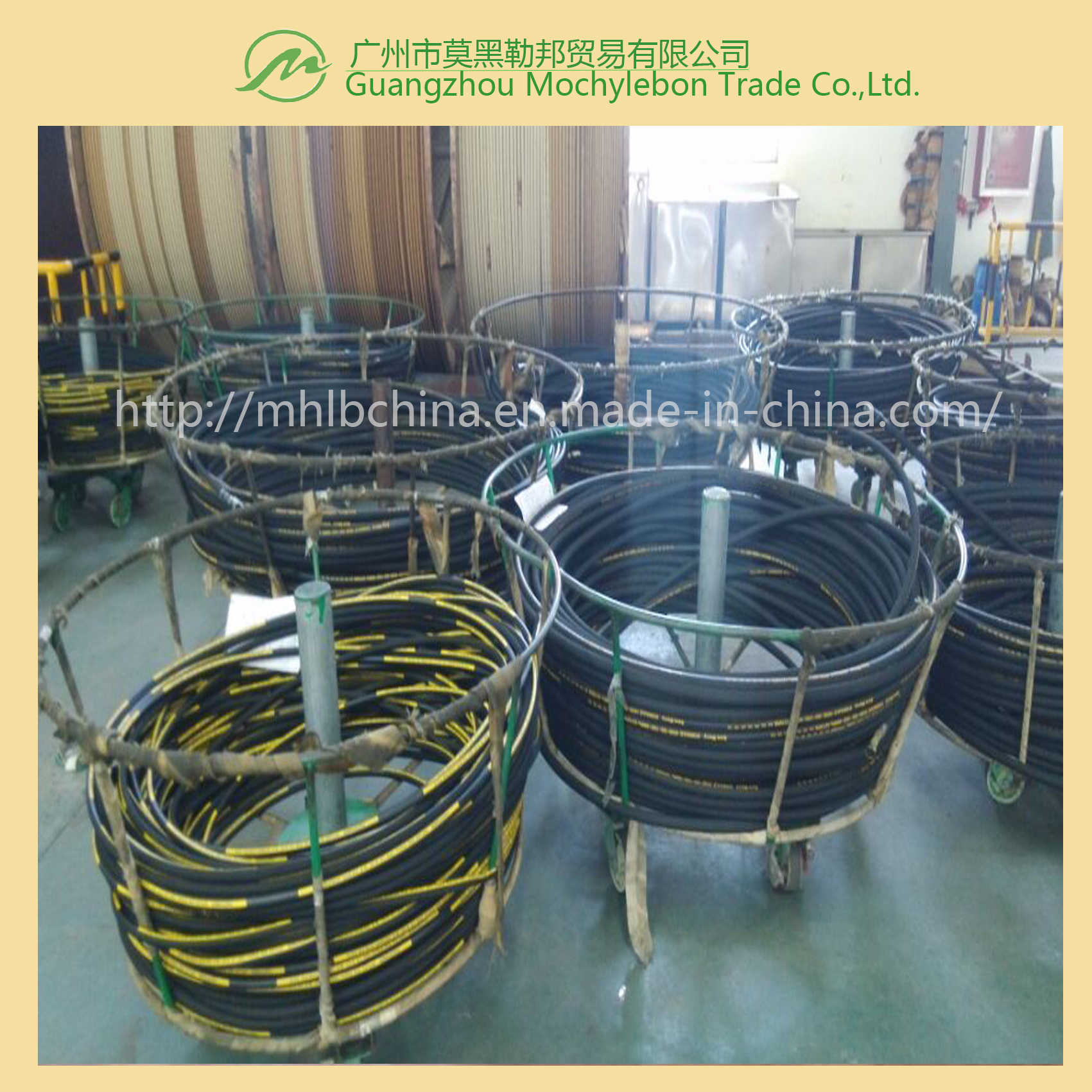 Steel Wire Braided Reinforced Rubber Covered Hydraulic Hose (SAE100 R1-1/4) pictures & photos