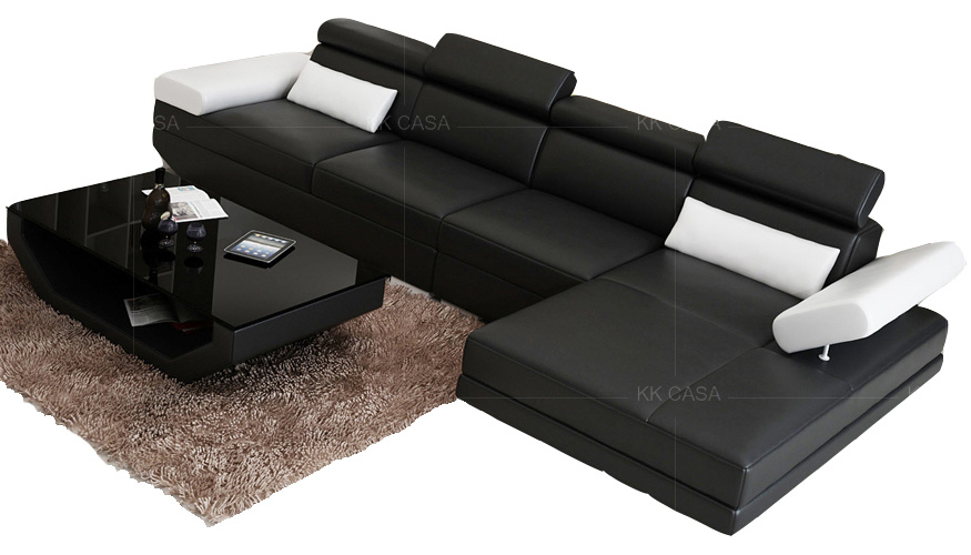 L Shape Sofa Italian Leather