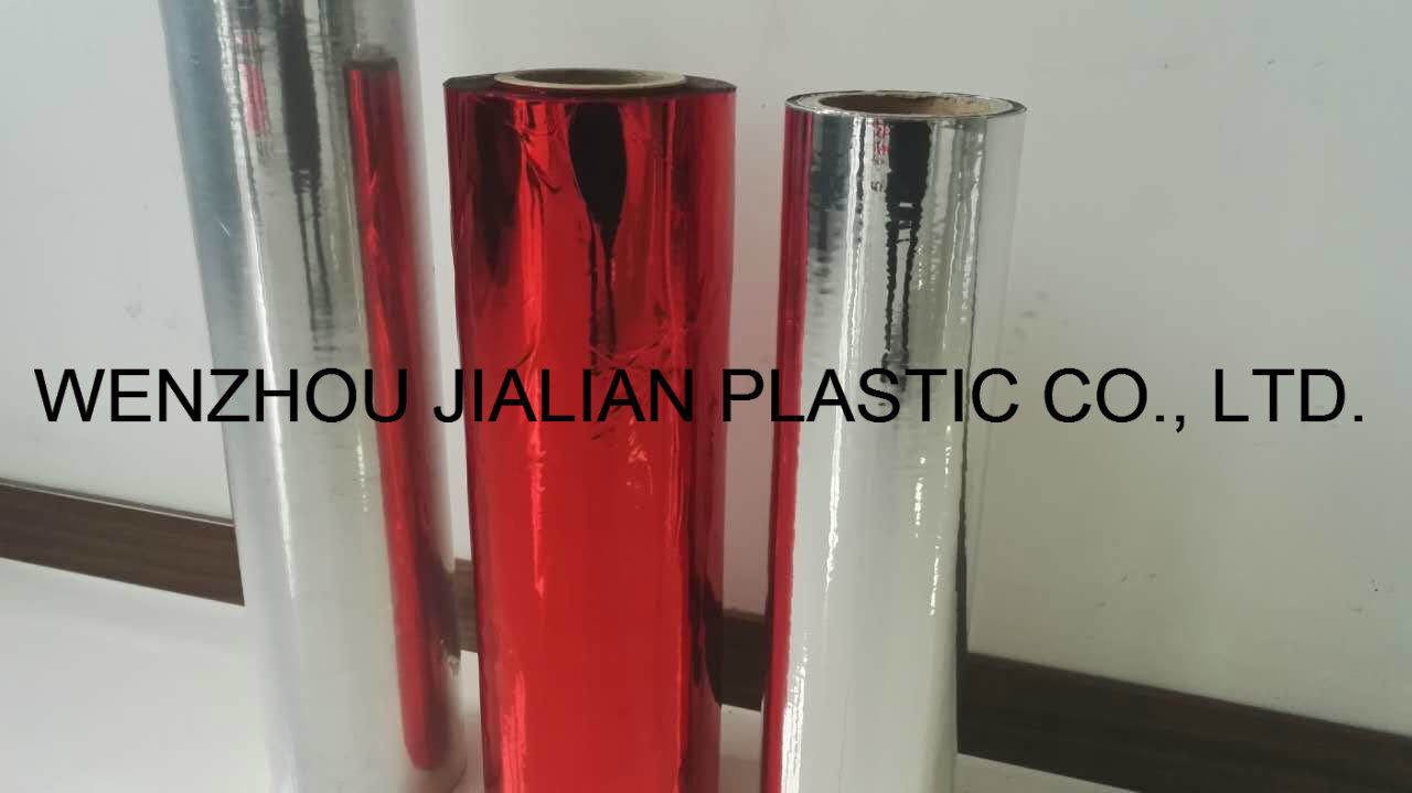 Aluminizing Twist Sweet Wrapper Roll Film for Packing/Metalized Red Twist PVC Film