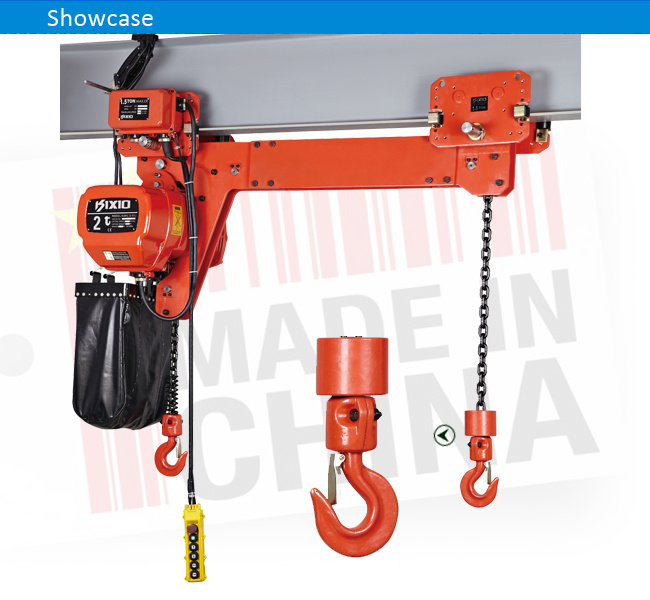 Gear Reduction Electric Motor 2 Ton Electric Chain Hoist with Trolley