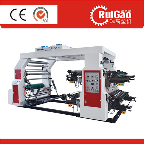 High Speed Four Color Plastic Film Shopping Bag Flexo Printing Press with Good Price pictures & photos