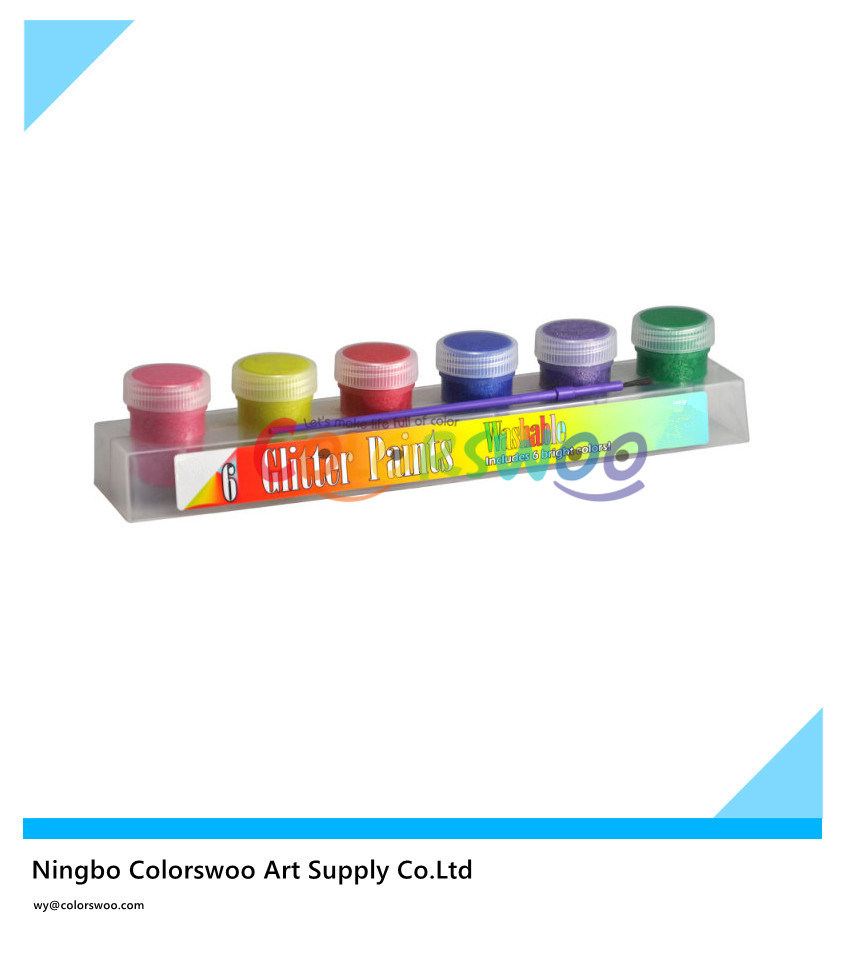 China 6 20ml Glitter Color Tempera Paint For Students And Kids China Pigment Poster