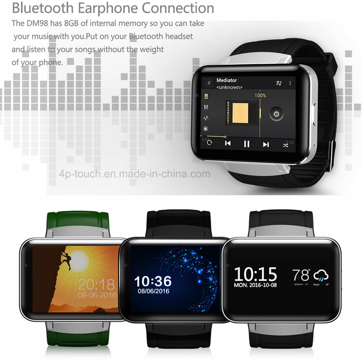 [Hot Item] Support Download Apps 3G/GPS Smart Watch with Camera DM98