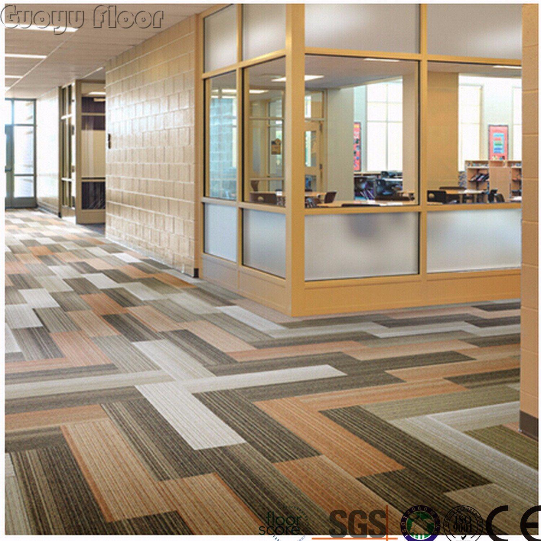 China Carpet Pattern High Quality Vinyl Floor Tiles Self Adhesive