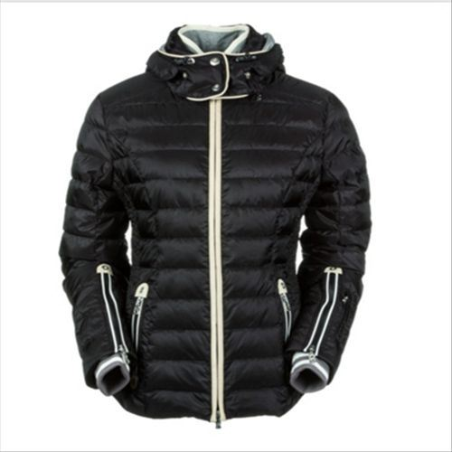 cc7efaecd [Hot Item] 2015 Ladies Shiny Black Italy Polyester Outdoor Winter Down  Jacket