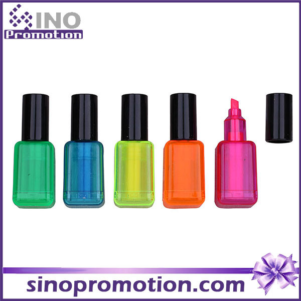 China Funny Nail Polish Shape Highlighter Promotional Gift Marker ...