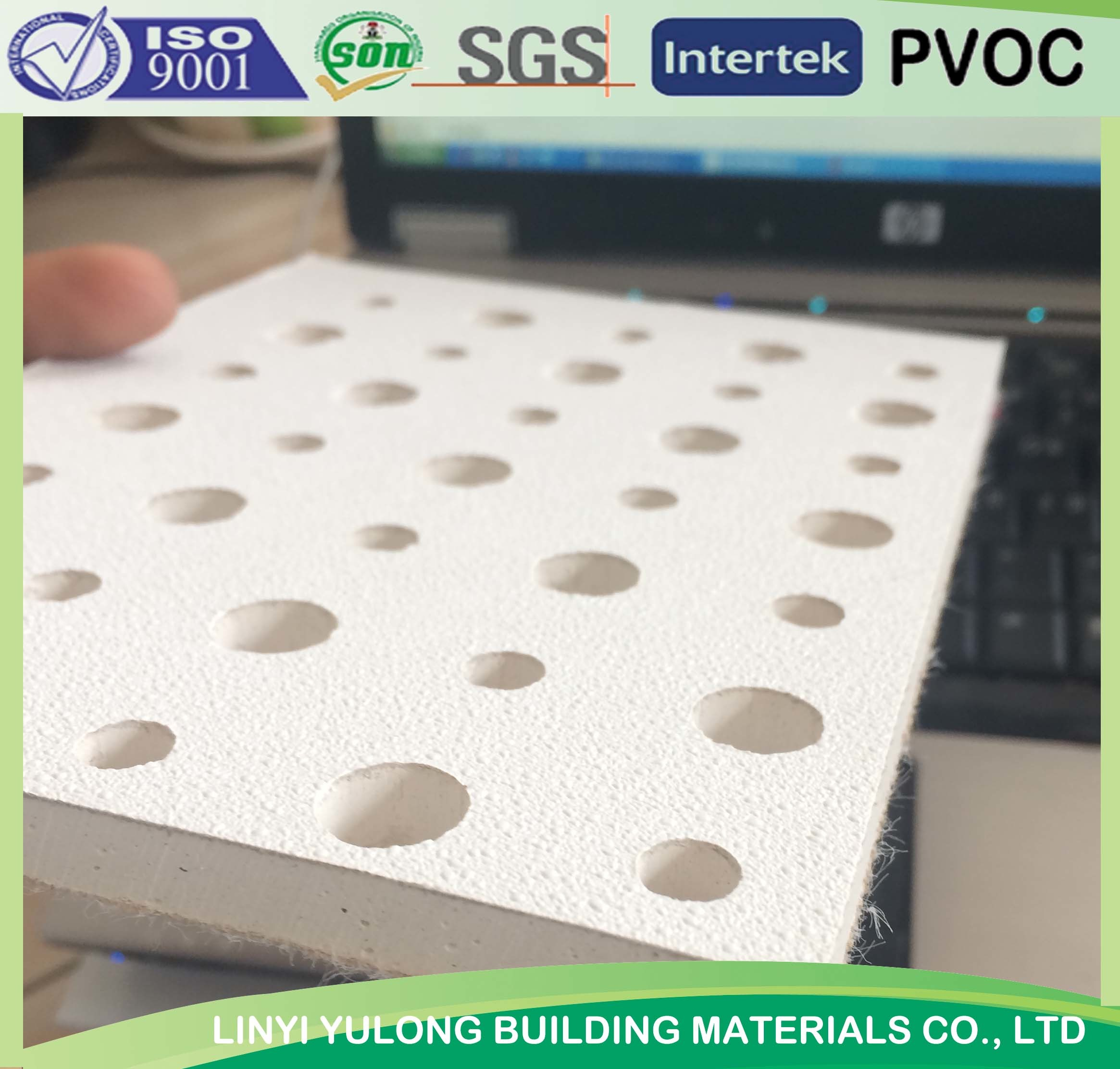 China Perforated Sound Absorb Acoustic Ceiling Tiles China