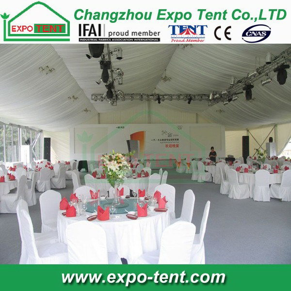 White Aluminum Wedding Party Tent with Linings pictures & photos