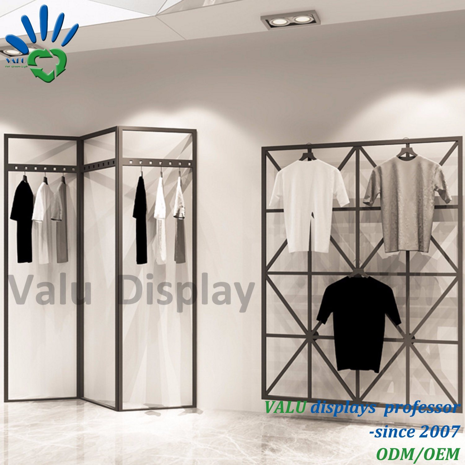 heavy rail garment and clothes with hanging black s hat shoe itm shelf rack duty stand