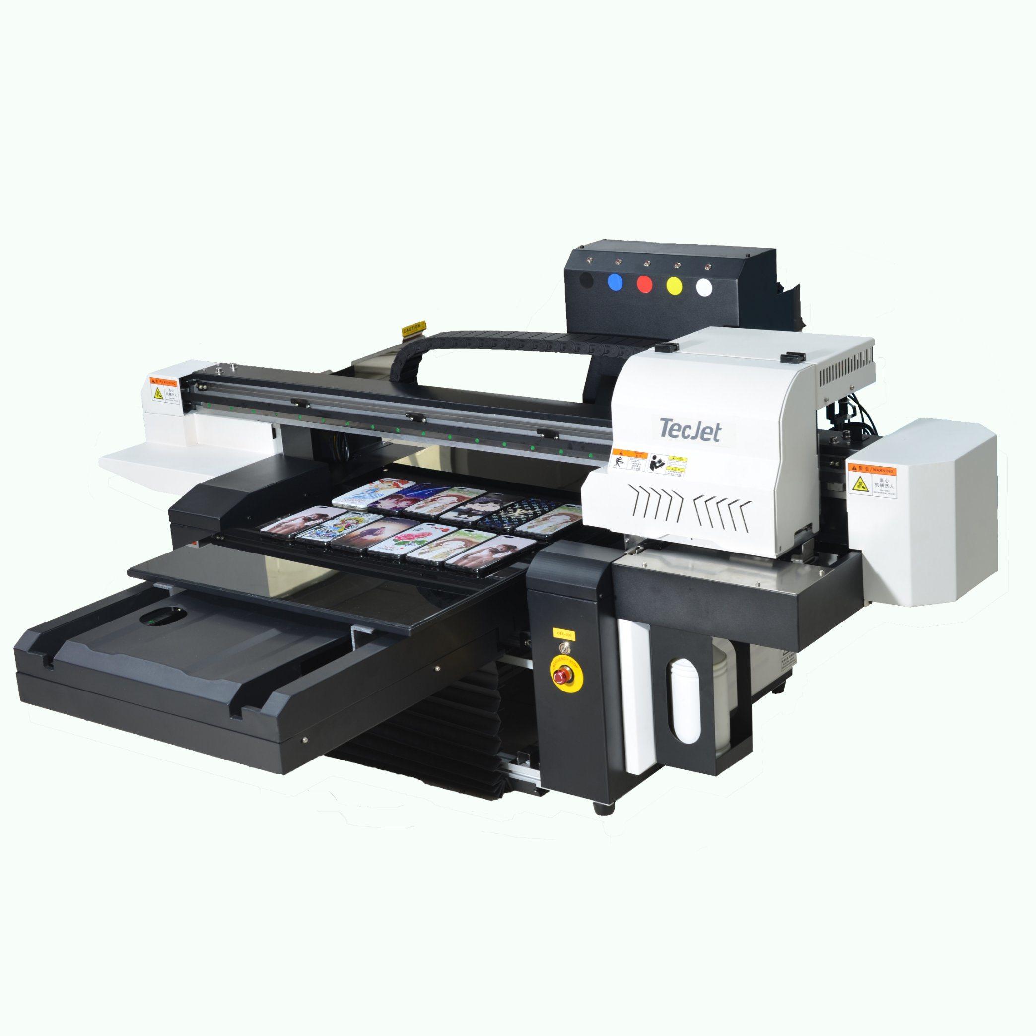 [Hot Item] Tecjet Dx5, Dx7, XP600 Printhead 6090 UV Flatbed Printer Money  Printing Machine