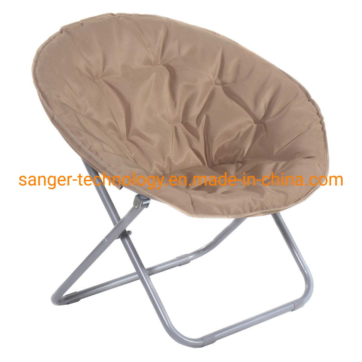 Hot Item Large Folding Saucer Moon Chair Den Tv Living Room Round Seat Durable Steel New