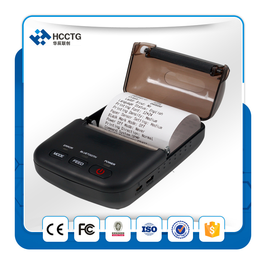 Cheap Thermal Receipt Paper 58mm Mini Portable Bluetooth Thermal Printer T12 pictures & photos