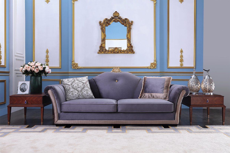 Living room furniture wood frame fabric sofa set s1703