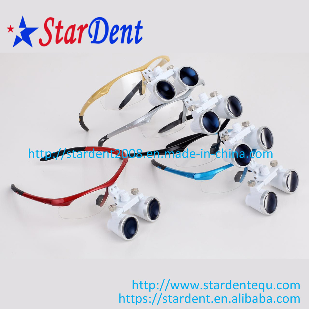 2.5/3.5X Color Magnification Binocular Loupes of Dental Hospital Medical Lab Surgical Diagnostic Equipment pictures & photos