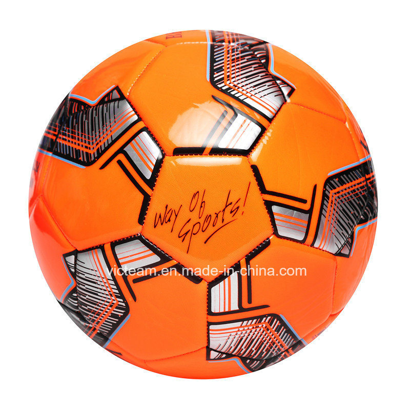 Official Size 5 4 3 Custom Print Drill Soccer Ball pictures & photos