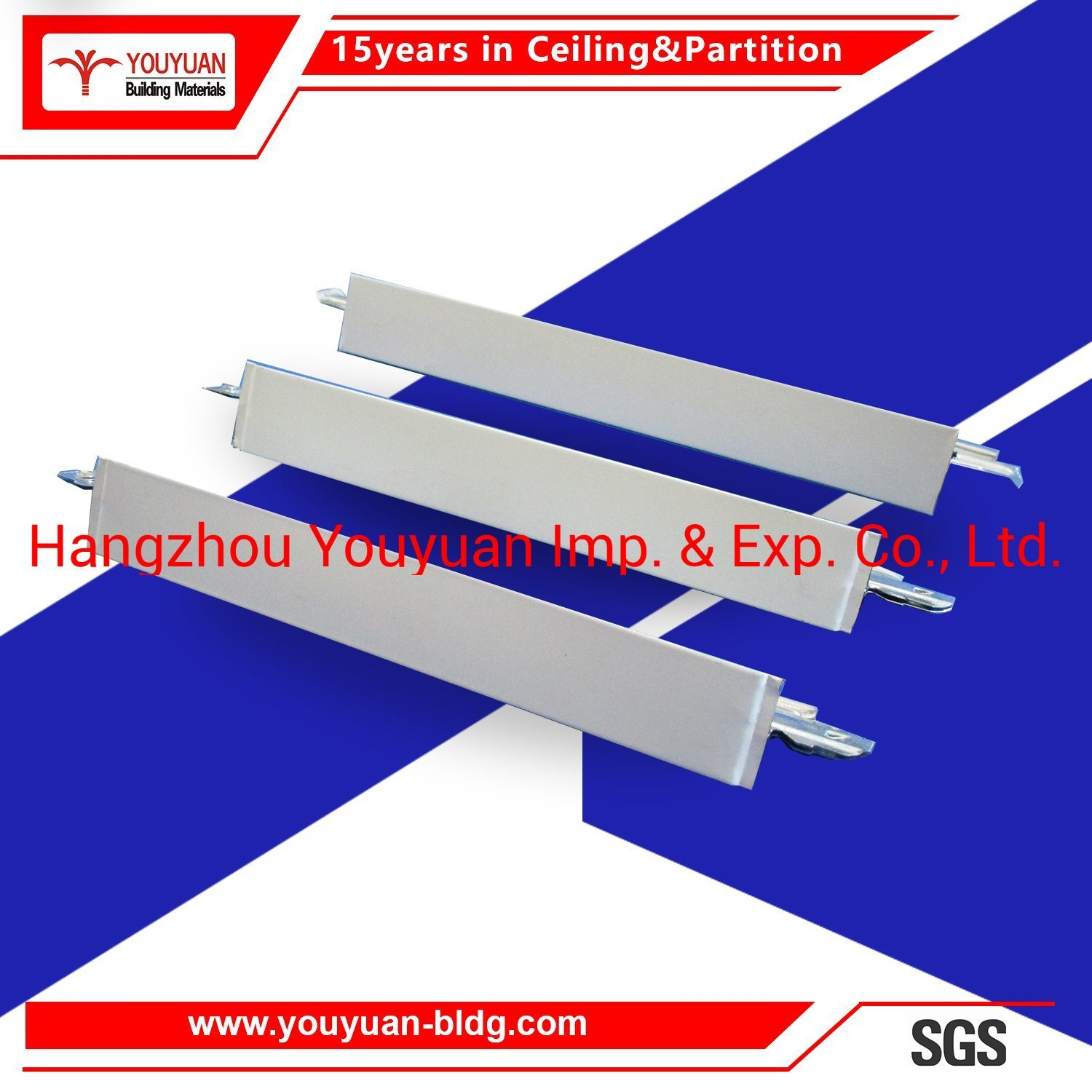 Hot Item Excellent Quality Ceiling Building Materials Light Steel Keel Suspended Ceiling Grid Tee Bar