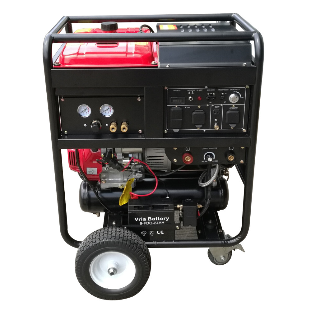 China 6kw 200A Portable Gasoline (Petrol) Powered Welder